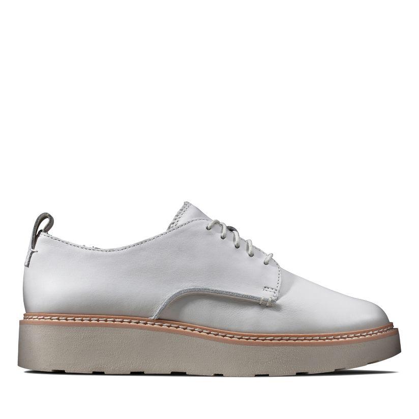 Extremadamente importante Cirugía Puede ser ignorado  Trace Walk White Leather - Clarks® Shoes Official Site   Clarks