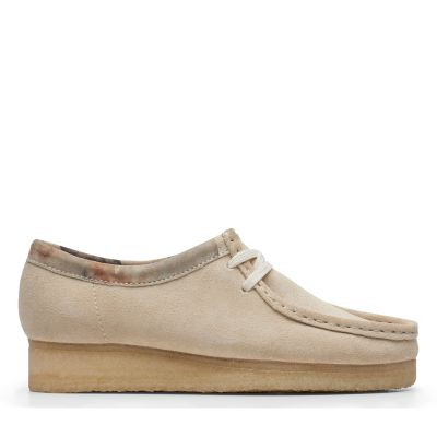 all white clarks wallabees