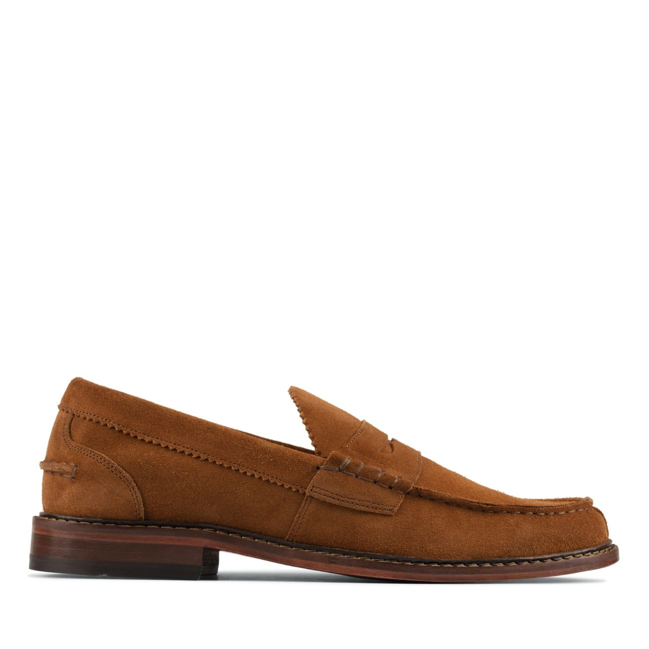 Oliver Penny Tobacco Suede-Mens Loafers-Clarks® Shoes Official Site     Clarks