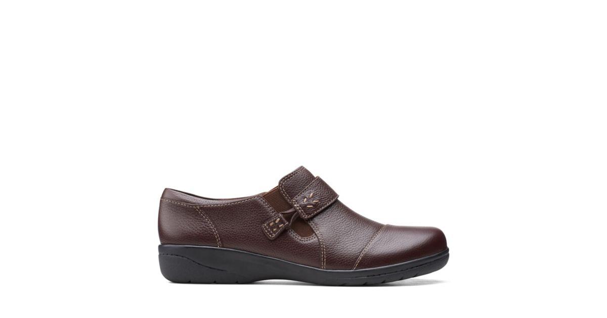 Clarks Cheyn Onyx Dark Brown Leather