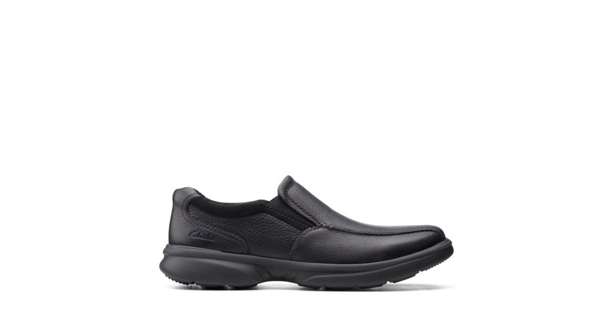 Clarks Bradley Step Black Tumbled Leather
