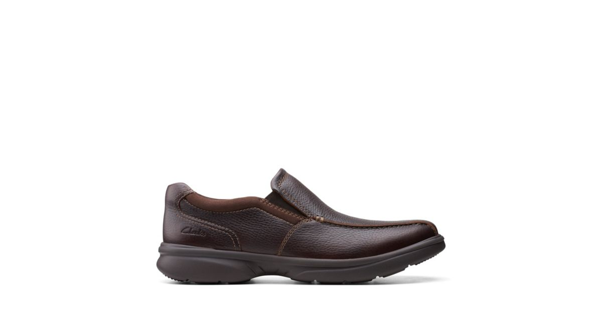 Clarks Bradley Step Brown Tumbled Leather