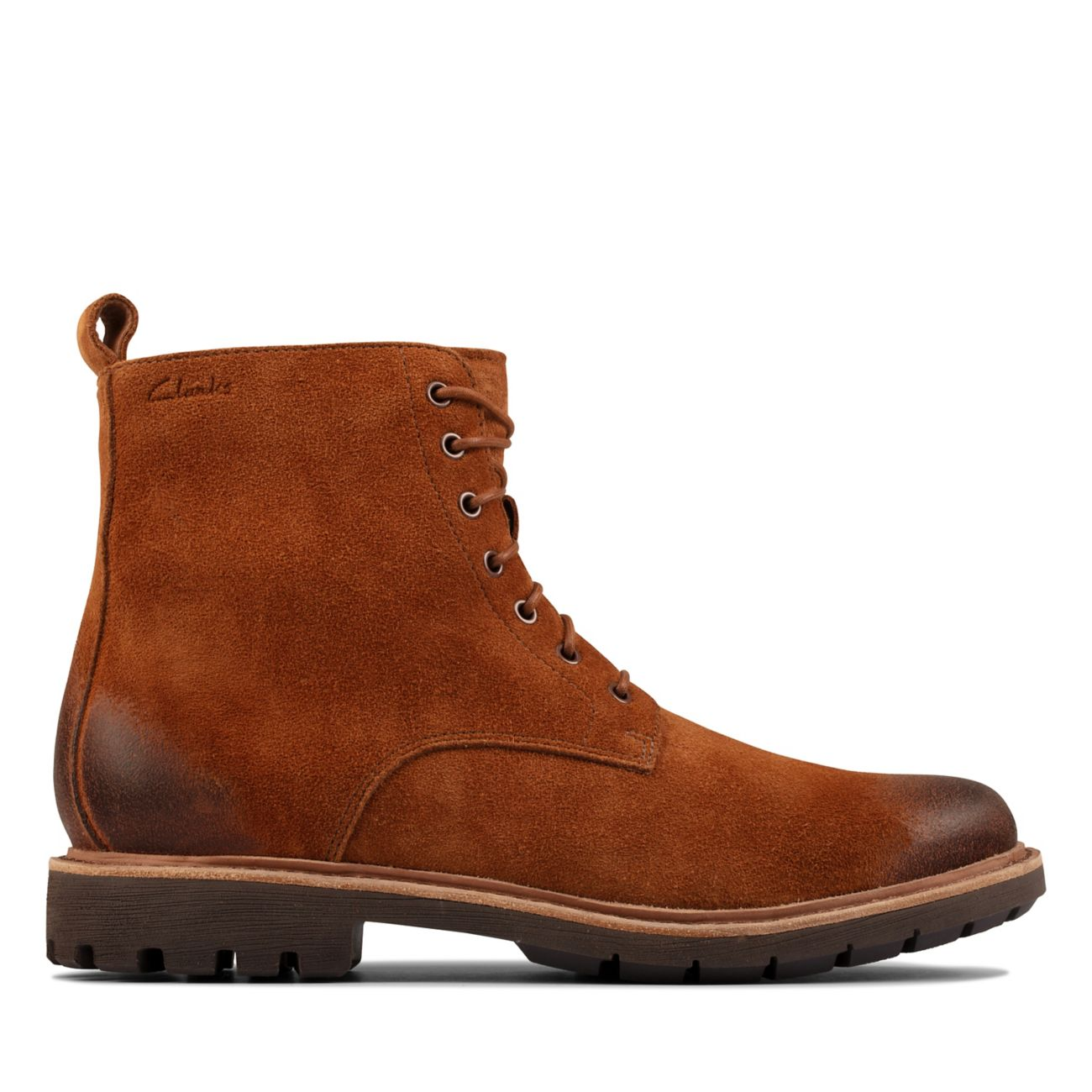 Batcombe Hi2 Tobacco Suede- Mens Boots-Clarks® Shoes Official Site     Clarks
