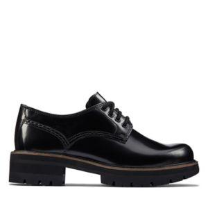 Womens Black Shoes Patent Slip On