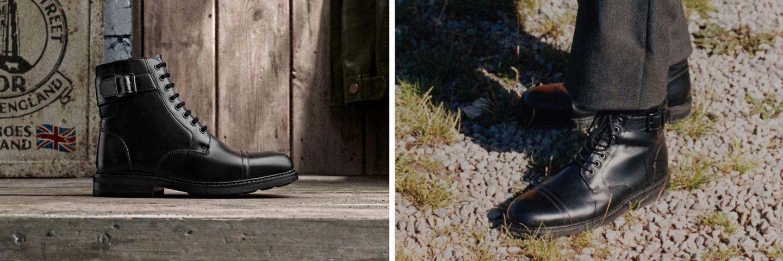 mens boot, clarkdale hi in black- casual comfort. edge appeal.