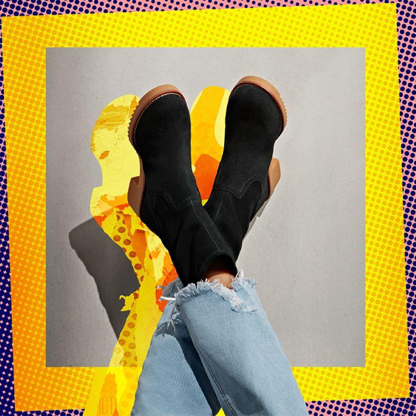 Shop womens sneakers- Eden Boot Black