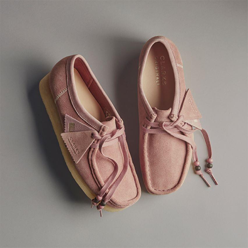 Shop womens new arrivals- wallabee dusty pink