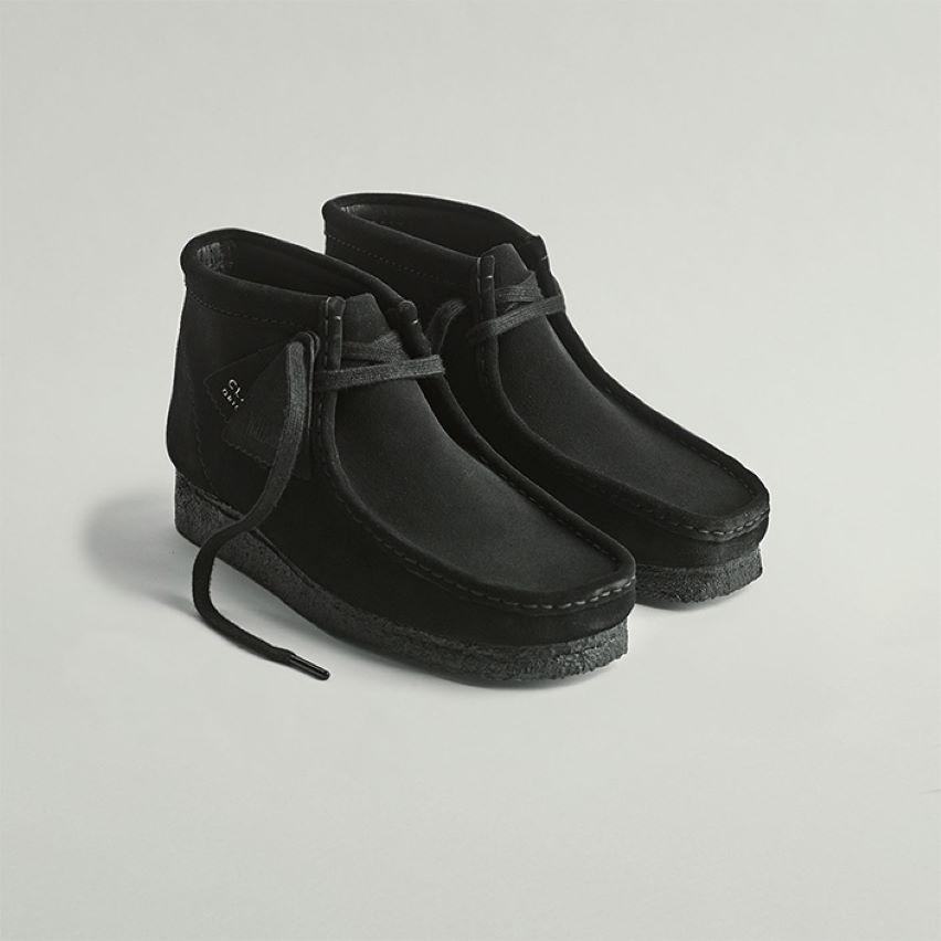 Shop mens boots- wallabee boot black