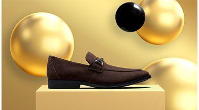 Click here to shop men's Gilman Bit dress shoe in dark brown