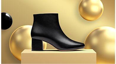 Click here to shop womens Sheer flora boot in black velvet