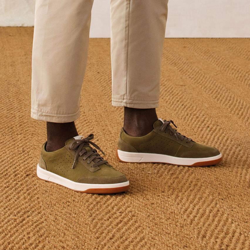 Shop mens sneakers- hero air lace in olive suede