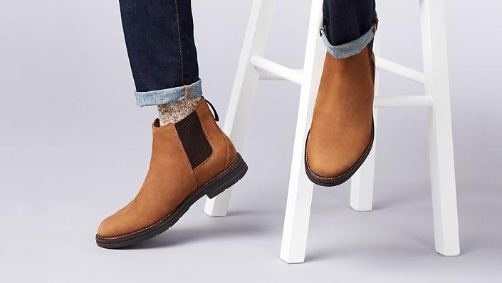 Mens Boot- Banning Limit in dark tan