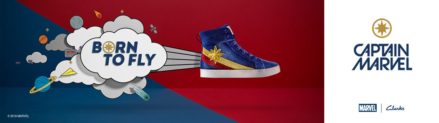 Born to Fly - Captain Marvel - Marvel | Clarks