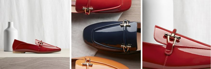Clarks Pure patent loafers