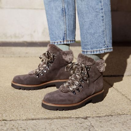 Women's Velma Hiker Boots in Dark Grey