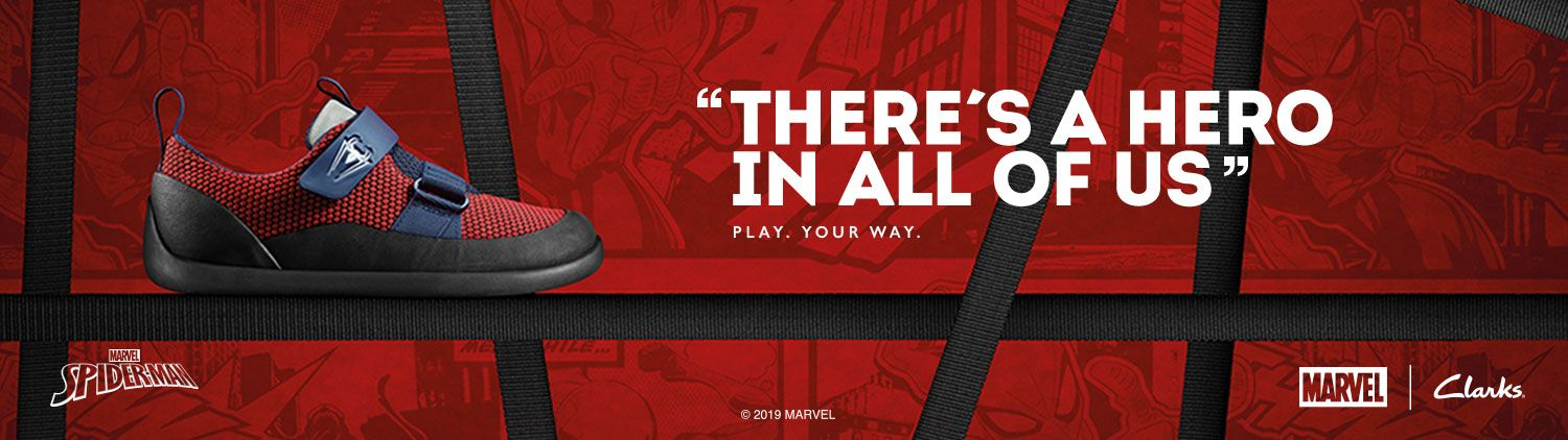 There's a hero in all of us - Spiderman - Marvel | Clarks