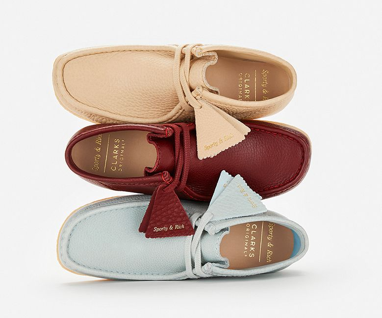Shop Clarks Originals X Sporty & Rich wallabees