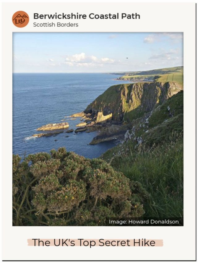 An Instagram image of Berwickshire Coastal Path in the Scottish Borders