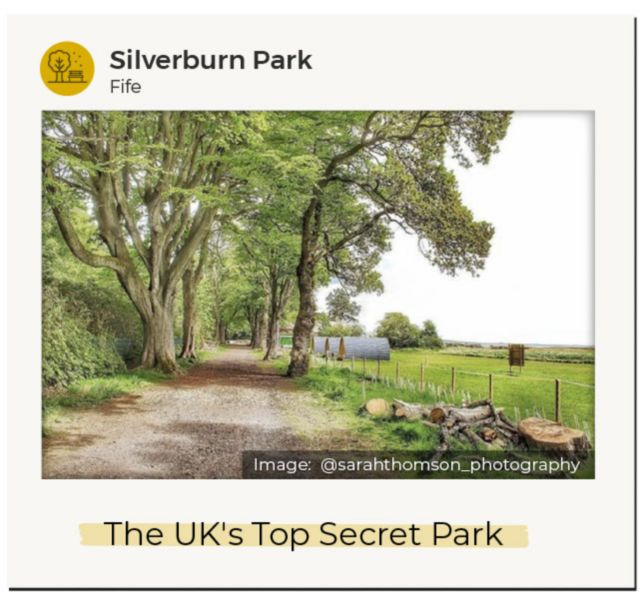 An Instagram image of Silverburn Park in Fife