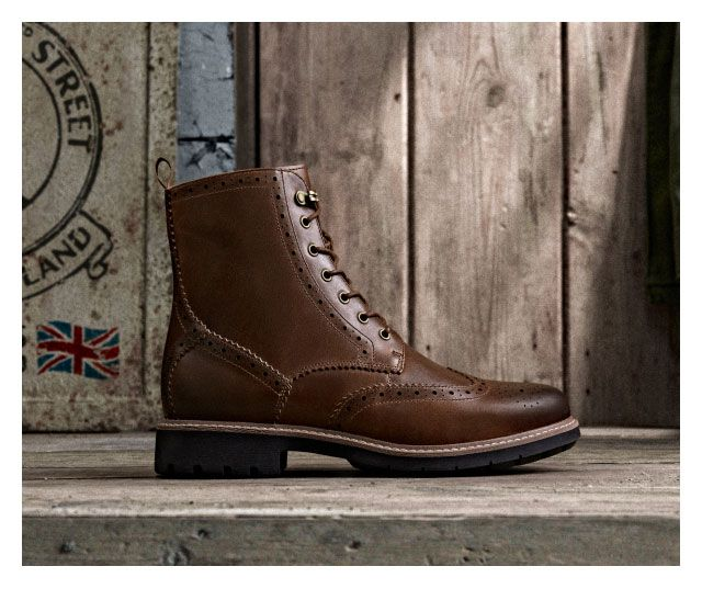 Batcombe lord in a dark tan leather side on view