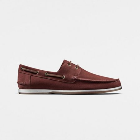 Pickwell Sail in Red Suede