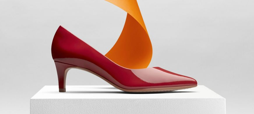 Clarks Laina 55 Court Heels in Red