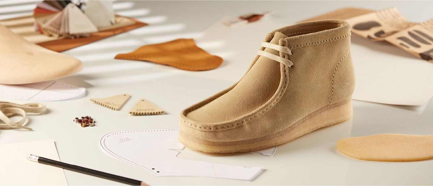 A brown wallabee boot