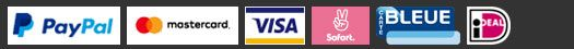 Payments accepted: Paypal, Visa, Mastercard, Sofort, iDeal, carte bleue