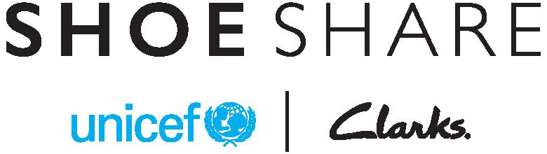 Shoeshare | Unicef | Clarks logos