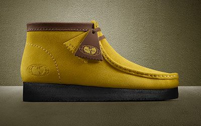 Yellow Wu-Tang Wallabee boot