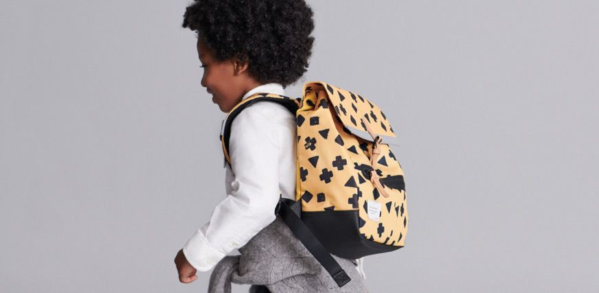 Clarks boys yellow patterned over the shoulder backpack