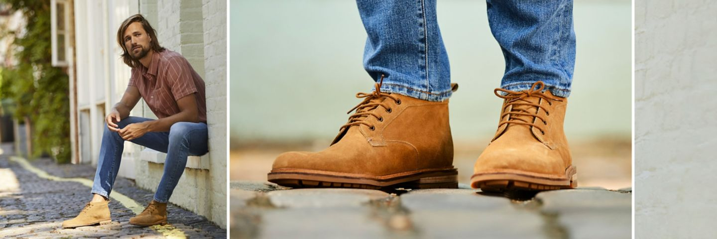 Foxwell Mid boot in dark sand suede