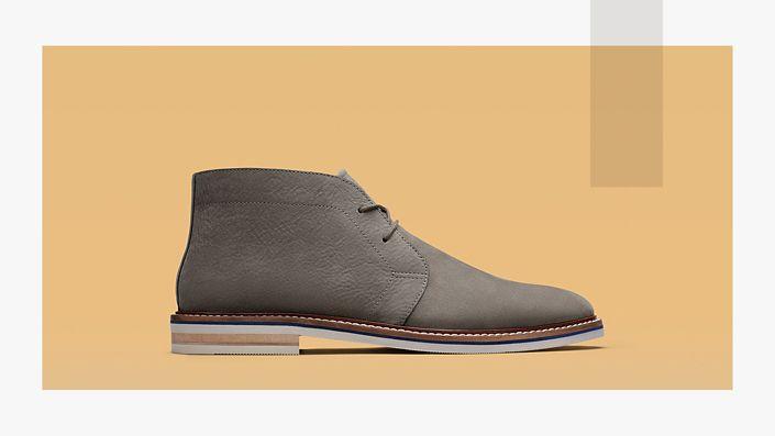 Mens boot- Dezmin mid in grey nubuck