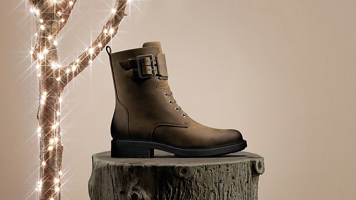 Womens boot, orinocco 2 lace brown snuff