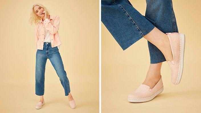 Womens Step glow slip in pink