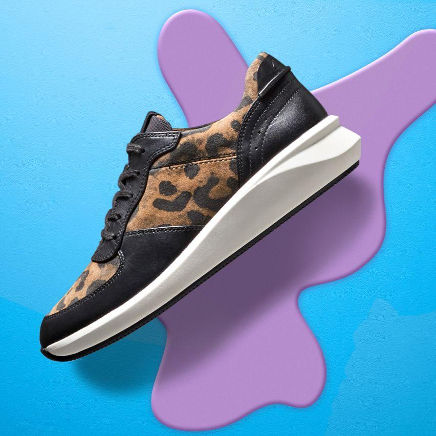 Shop womens sneakers- un rio sprint leopard print combi