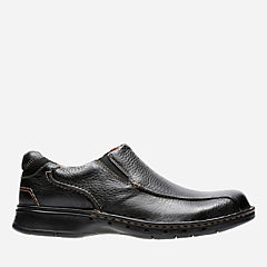 Un.Seal Black Leather mens-wide-width