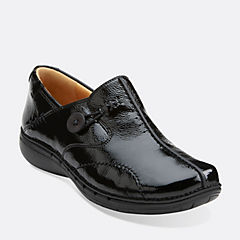 Un.Loop Black Patent Leather womens-wide-width