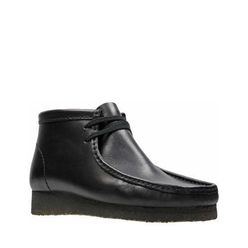 Wallabee Boot Black Leather - Clarks Originals Mens Boots - Clarks ...