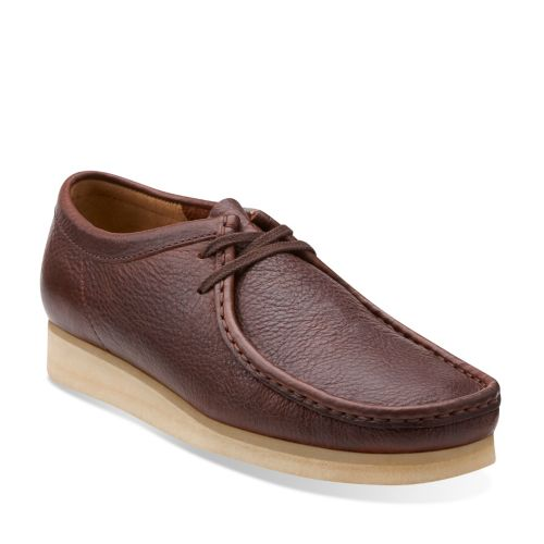1960s Style Men's Clothing, 70s Men's Fashion Clarks Mens Wallabee In Brown Tumbled Leather 11.5 Medium $89.99 AT vintagedancer.com