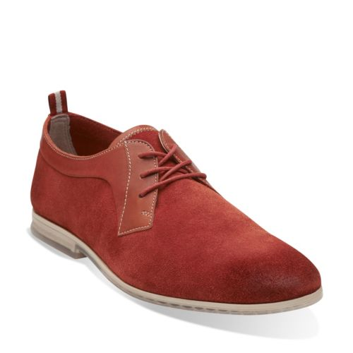 Brick Red Suede. Frewick Lace badge image. Frewick Lace