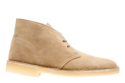 A variant of the Chukka boot is the desert boot, but these always have crepe rubber soles and they typically have suede uppers. Desert boots were popularized in .