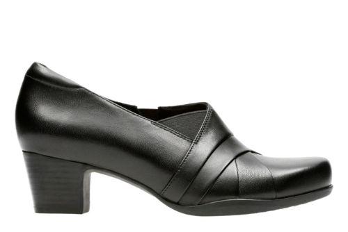 Rosalyn Adele Black Leather Women S Wide Fit Heels