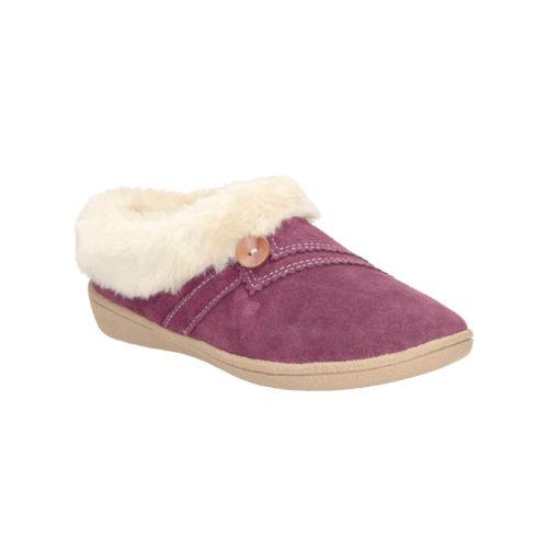 Clarks Womens Seasonal Clar Eskimo Snow Suede Slippers In Berry