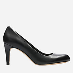 Carlita Cove Black Leather womens-heels