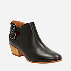 Spye Astro Black Leather womens-ankle-boots
