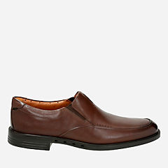 Clarks Shoes Unbyner Easy Dark Brown Mens  Wide