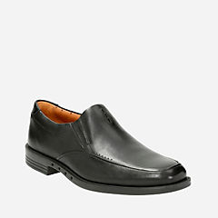 Unbizley Lane Black Leather mens-dress-casual-shoes