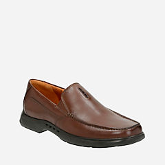 Uneasley Twin Dark Brown Leather mens-dress-casual-shoes