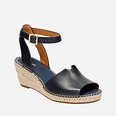 Petrina Selma Navy Leather womens-sandals-wedge